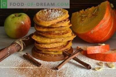 Pancakes con zucca e mele