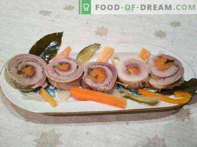 Rolmops - Heringsbrötchen mit Gurke: Kochrezept mit Fotos