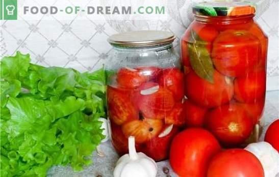 Es ist sehr nützlich, Tomaten ohne Essig für den Winter zu rollen. Die besten Rezepte für die Zubereitung duftender hausgemachter Tomaten für den Winter ohne Essig