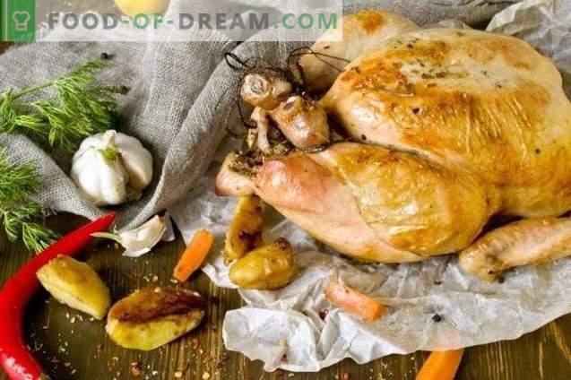 Ganzes gebackenes Hühnchen
