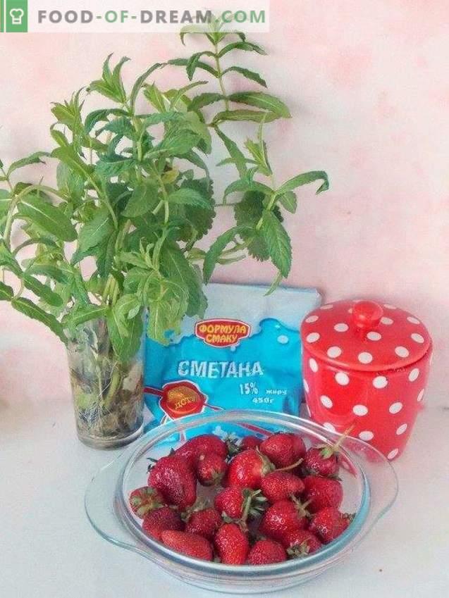 Erdbeersuppen-Dessert