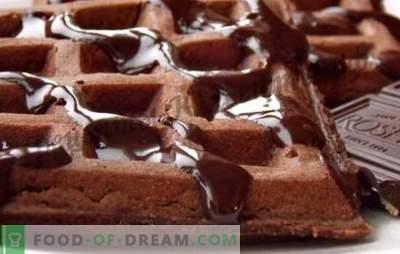 Schokoladenwaffeln - Rezepte einer vergessenen Delikatesse. Wie man duftende Schokoladenwaffeln