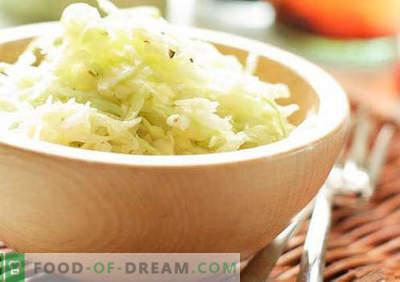 Krautsalat mit Essig - eine Auswahl der besten Rezepte. Korrekter Kohlsalat mit Essig kochen.