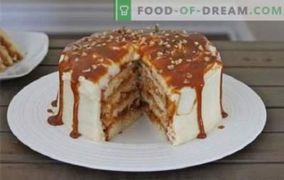 Honig-, Sand-, Keks- und Waffelkuchen mit Kondensmilch. Rezepte für Kuchen mit Kondensmilch