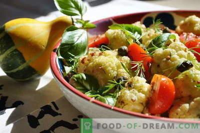 Салата от карфиол - най-добрите рецепти. Как правилно и вкусно приготвена салата от карфиол.
