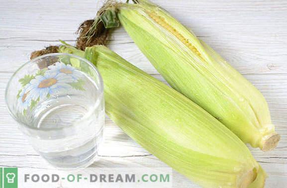Einfrieren von Mais in Körnern