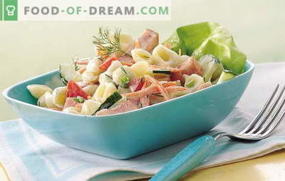 Einfacher Schinkensalat - Zauberstab für die Gastgeberin! Rezepte für leckere Salate mit Schinken und Gemüse, Pilzen, Crackern