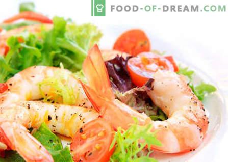 Salat mit Chinakohl und Garnelen sind die besten Rezepte. Salat von Garnelen und Chinakohl richtig kochen.