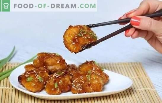 Huhn in Honig-Senf-Sauce ist ein goldener Vogel! Rezepte appetitanregendes Huhn in Honig-Senfsauce und ganzen Stücken