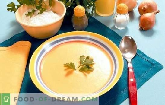 Suppenpüree in einem Multikocher: faule Feinschmecker. Rezepte Suppenpüree in einem langsamen Kocher: Käse, Hühnchen, Gemüse, Pilze, Leber