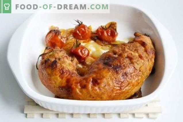 Hausgemachte Hühnerwurst mit Perlgerste