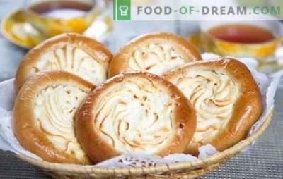Käsekuchen mit Hüttenkäse: Schritt für Schritt Rezepte zum Backen. Kochen Sie Hefe und Sandwich-Käsekuchen mit Hüttenkäse nach Schritt-für-Schritt-Rezepten
