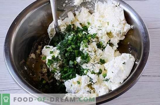 Vorspeise aus Hüttenkäse und Pita mit Knoblauch und Gemüse - fragen Sie einfach auf dem Tisch! Foto-Rezept Schritt für Schritt Garen würziger Snack aus Pita und Hüttenkäse