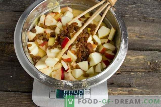 Leckere Apfel- und Kokosnusspastete