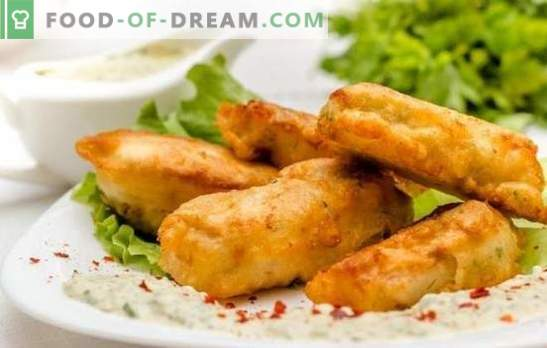 Luftiger und durchbrochener, knuspriger und zarter Fischteig mit Mayonnaise. Rezepte einfacher Fischteig mit Mayonnaise für jeden Geschmack