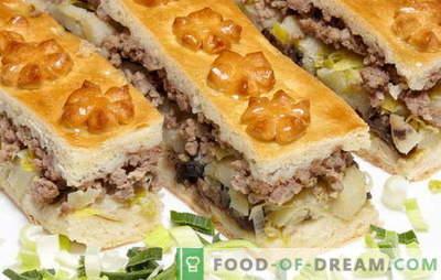 Torte mit Kartoffeln und Pilzen - Waldmärchen! Die besten Rezepte für leckere Pasteten mit Kartoffeln und Champignons für alle Gelegenheiten
