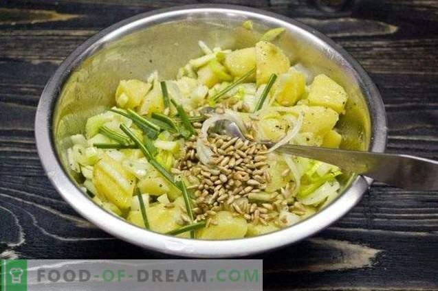 Lenten-Kartoffelsalat mit Sellerie und Apfel
