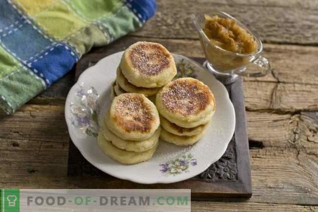 Prächtige Käsekuchen mit Bananen-Apfel-Konfitüre