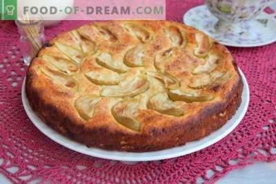 Käsekuchen mit Äpfeln und Rosinen