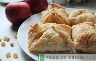 Blätterteig mit Äpfeln ... ich lehne es nicht ab! Rezepte für Blätterteiggebäck mit Äpfeln im Ofen von zu Hause aus und gekaufter Teig
