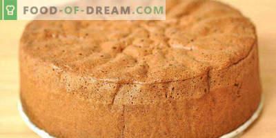 Keks auf Kefir im Ofen für Kuchen, mit Kakao, Honig, Äpfeln, Marmelade