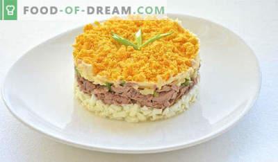 Salat mit Fischkonserven, Rezepte mit Apfel, Karotten, Cracker, Champignons, Bohnen