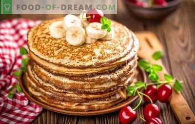 Echte klassische Pfannkuchen: Schritt für Schritt Rezepte. Bewährte Rezepte klassischer Pfannkuchen mit Milch, Hefe und Kefir