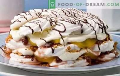 Für die Ideen für Konditoren wird ein Marshmallow-Kuchen ohne Backen verwendet. Rezepte für