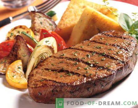 Rindersteak - die besten Rezepte. Wie man richtig und lecker Rindersteak kocht.