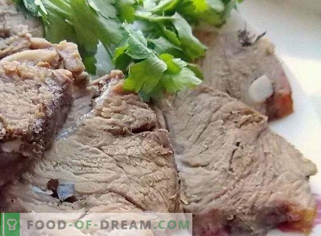 Hausgemachtes gekochtes Schweinefleisch