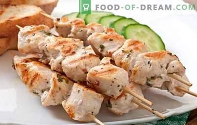 Spieße am Spieß im Ofen von Schweinefleisch - die Aromen des Sommers. Rezepte Kebabspieße im Ofen von Schweinefleisch im Ärmel, in Folie, in einem Gefäß