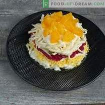 Ensalada de Año Nuevo con Pescado Rojo y Caviar