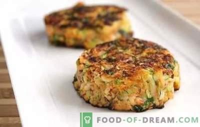 Zucchini und Hackfleischbällchen: ein schnelles Abendessen! Schnelle Rezepte für Zucchini und Hackfleischbällchen in einer Pfanne, einem Ofen und einem Doppelkocher