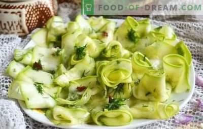 Einfache Zucchini-Snacks - Sie werden lecker. Rezepte Zucchini-Snacks mit beliebigen Produkten an jeden Tisch