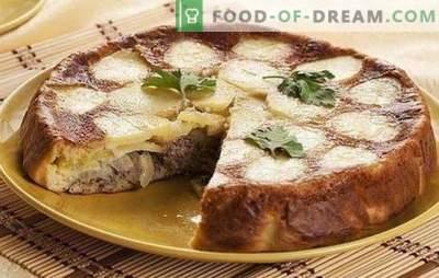 Pie mit Fischkonserven und Kartoffeln - ein super Abendessen! Rezepte von gelierten und anderen Torten mit Fischkonserven und Kartoffeln