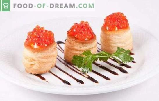 Törtchen mit Kaviar - ein willkommener Snack! Rezepte elegante und köstliche Törtchen mit Kaviar und anderen Ergänzungen
