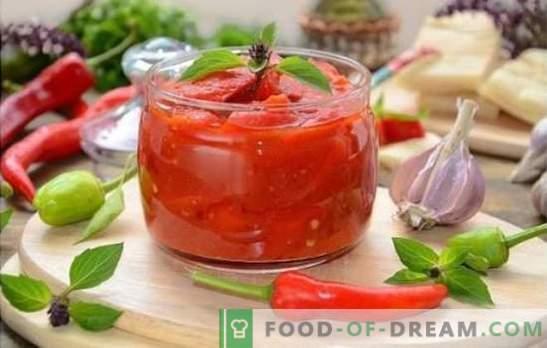 Lecho mit Tomatensaft ist eine der Optionen für einen leckeren Snack. Nachgewiesene Copyright-Rezepte lecho mit Tomatensaft