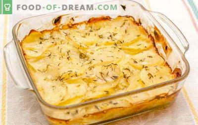 Kartoffeln in Sauerrahm im Ofen sind der