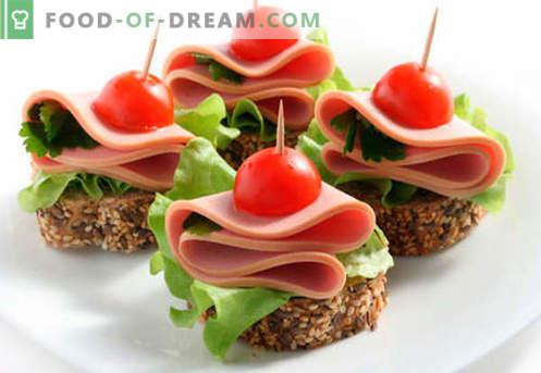 Festliche Sandwiches sind die besten Rezepte. Wie schnell und lecker kochen Sie festliche Sandwiches.