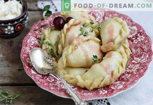 Kirschknödel sind die besten Rezepte. Wie man richtig und lecker Knödel mit Kirschen zu Hause gart.