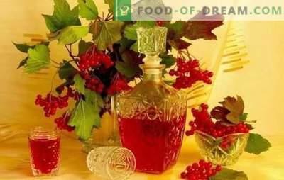 Viburnum hausgemachte Tinktur ist lecker und gesund. Wie man Viburnum zu Hause mit Alkohol, Cognac, Mondschein oder Wodka zubereitet