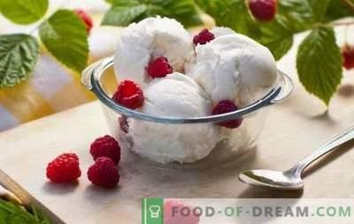 Eiscreme: ein schrittweises Rezept für die beliebte Delikatesse. Eiscreme-, Schokoladen-, Bananen- und Hüttenkäseeis (schrittweise Rezepte)