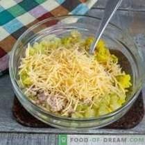 Einfacher und geschmackvoller Dorschleber-Salat mit goldenem Reis
