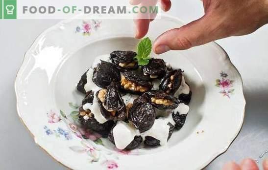 Mit Walnüssen gefüllte Pflaumen - Vorspeise oder Nachtisch? Die besten Rezepte für Trockenpflaumen mit Walnüssen