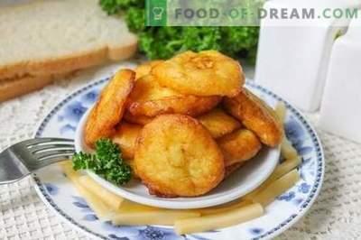 Kartoffelkroketten - ein interessantes Gericht gewöhnlicher Kartoffeln