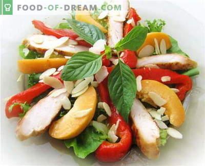Insalata di peperoni bulgari con pollo - le migliori ricette. Come correttamente e gustoso per preparare un'insalata con peperoni e pollo.