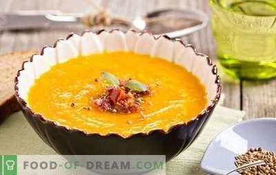 Wie kocht man eine köstliche Kürbissuppe mit Ingwer? Rezepte Ingwersuppe: mit Sahne, Kartoffeln, Kokosmilch