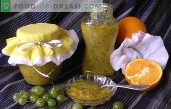 Stachelbeermarmelade mit Orangen ist eine wohlriechende, gesunde Delikatesse. Originelle und einfache Rezepte der Stachelbeermarmelade mit Orangen