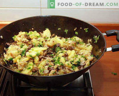 Mit Kartoffeln gebratene Butter, Kochrezepte