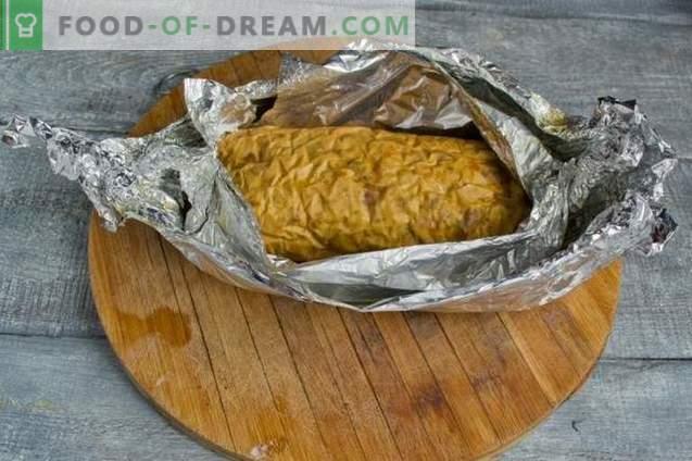 Hausgemachtes Hähnchenbrötchen im Ofen